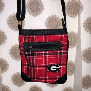 Plaid UGA purse